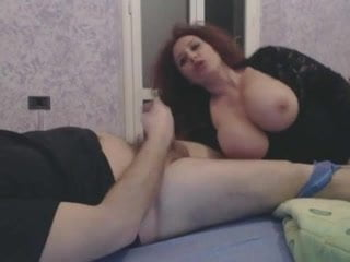 Big tits on bed