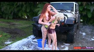 Monicamilf in a dirty carwash norsk porno